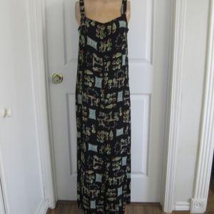 Vintage Carole Little long dress, black, Sz S